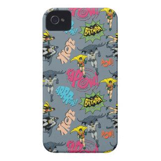 Batman y modelo de la acción del petirrojo iPhone 4 Case-Mate funda