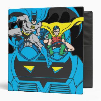"""Batman y paseo Batmobile del petirrojo Carpeta 1 1/2"""""""