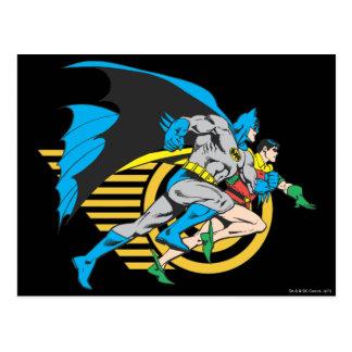 Batman y perfil del petirrojo postales