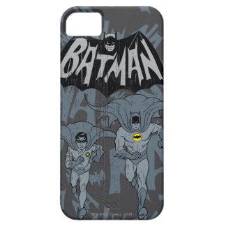 Batman y petirrojo con el gráfico apenado logotipo funda para iPhone SE/5/5s