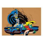 Batman y petirrojo en Batcave Comunicados Personalizados