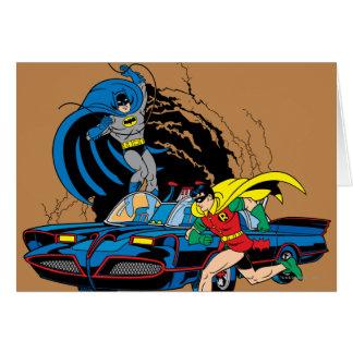 Batman y petirrojo en Batcave Tarjetas