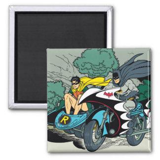Batman y petirrojo en Batcycle Imán