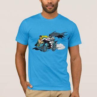 Batman y petirrojo en Batcycle Playera