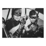 Batman y petirrojo en Batmobile Invitacion Personalizada