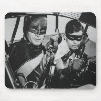 Batman y petirrojo en Batmobile Mouse Pads