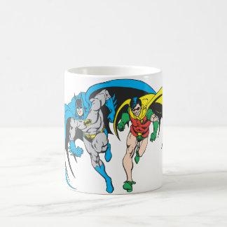 Batman y petirrojo taza básica blanca