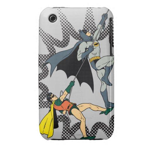 Batman y subida del petirrojo iPhone 3 Case-Mate protectores