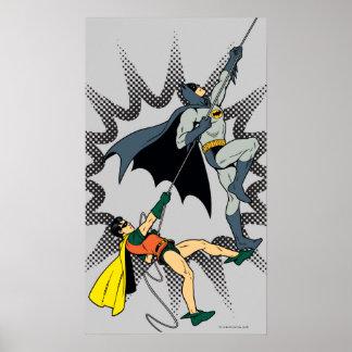 Batman y subida del petirrojo póster
