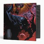 Batman y vuelo del petirrojo sobre Gotham