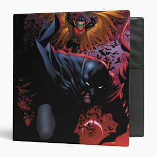 "Batman y vuelo del petirrojo sobre Gotham Carpeta 1 1/2"""