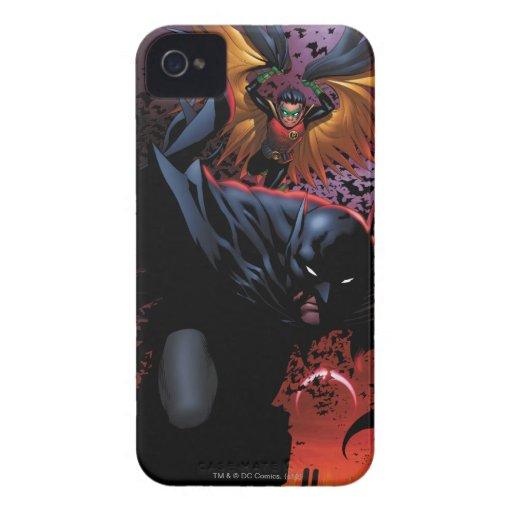 Batman y vuelo del petirrojo sobre Gotham Case-Mate iPhone 4 Protector
