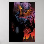 Batman y vuelo del petirrojo sobre Gotham Poster