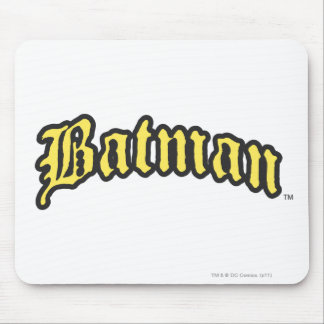 Batman | Yellow Black Outline logo Mouse Pad