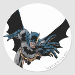 Batman yells and lunges classic round sticker