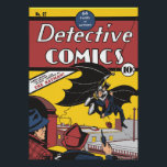 """Batman&#39;s First Appearance Vintage Poster<br><div class=""""desc"""">This product features the rare cover of the No. 27 &quot;Detective Comics&quot; comic book  from 1939,  which recently sold for $1, 075, 500.  Inside,  The Batman makes his first appearance.</div>"""