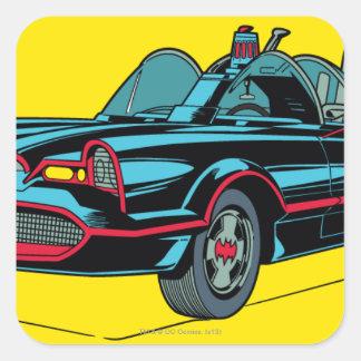 Batmobile Square Sticker