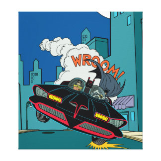 Batmobile Wroom! Stretched Canvas Print