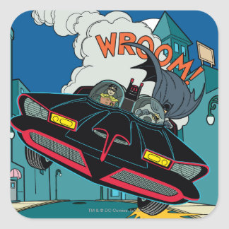 Batmobile Wroom! Square Sticker