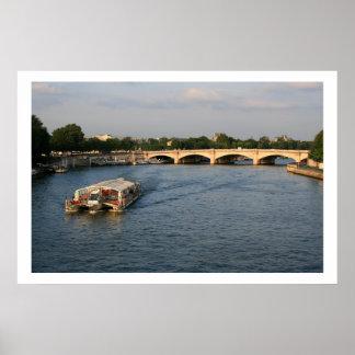 Batobus at Pont de la Concorde Poster