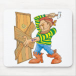 Baton Down The Door Pirate Mouse Pad