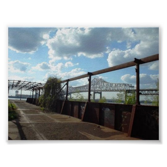 Baton Rouge Bridge Poster