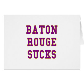 Baton Rouge chupa Tarjeta De Felicitación