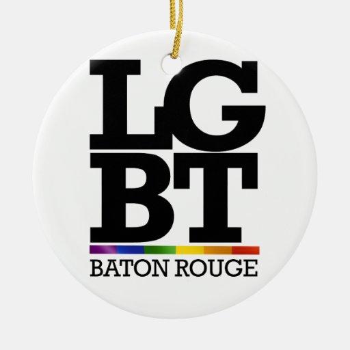 BATON ROUGE LGBT -.png Christmas Ornaments