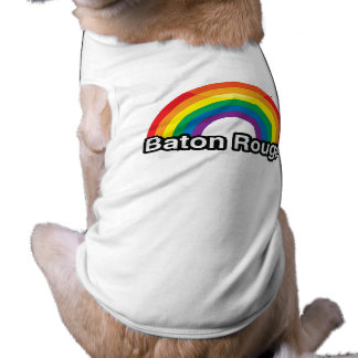 BATON ROUGE LGBT PRIDE RAINBOW -.png Doggie T Shirt