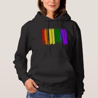 Baton Rouge Louisiana Gay Pride Rainbow Skyline Hoodie
