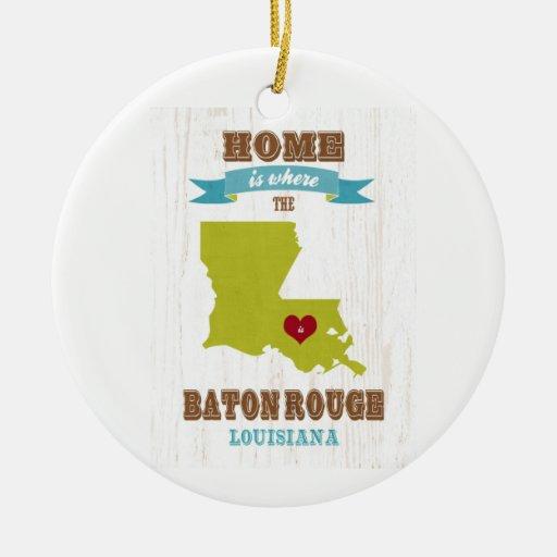 Baton Rouge, Louisiana Map – Home Is Where Ornament