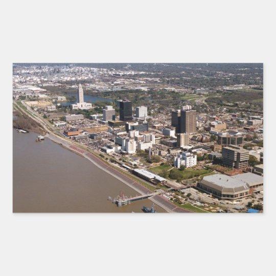 Baton Rouge Louisiana Rectangular Sticker
