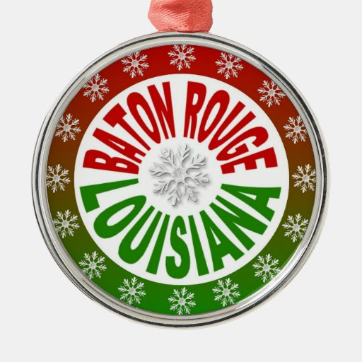 Baton Rouge Louisiana red green ornament