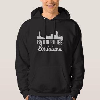 Baton Rouge Louisiana Skyline Hoodie