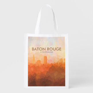 Baton Rouge, Louisiana Skyline IN CLOUDS Reusable Grocery Bag