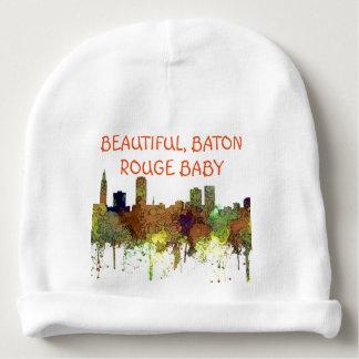 Baton Rouge Louisiana Skyline Safari Buff Baby Beanie