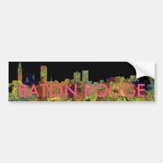 Baton Rouge Louisiana Skyline Safari Buff Bumper Sticker
