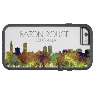 Baton Rouge Louisiana Skyline Safari Buff Tough Xtreme iPhone 6 Case