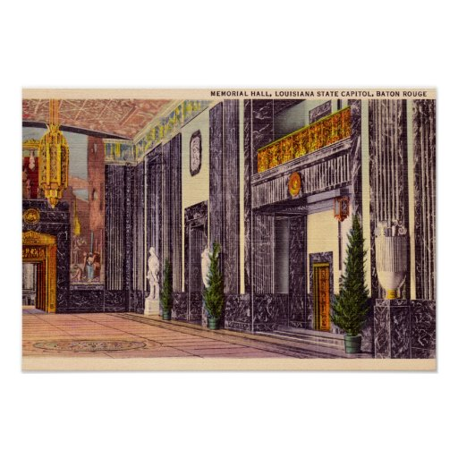 Baton Rouge Louisiana State Capitol Memorial Hall Print