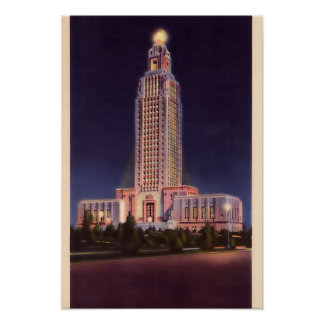 Baton Rouge Louisiana State Capitol Poster