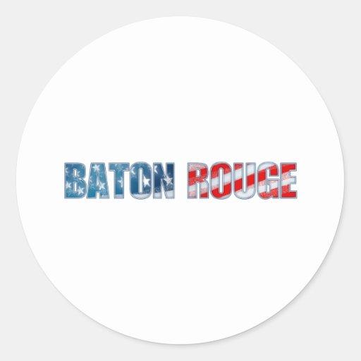 Baton Rouge Pegatina Redonda