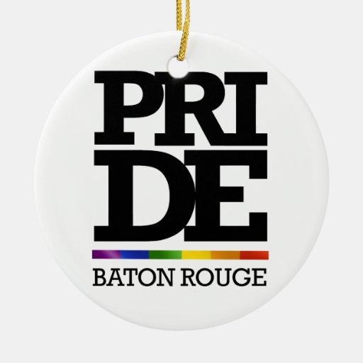 BATON ROUGE PRIDE -.png Christmas Ornament