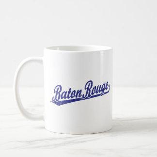 Baton Rouge script logo in blue Coffee Mug