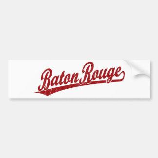 Baton Rouge script logo in red Bumper Sticker