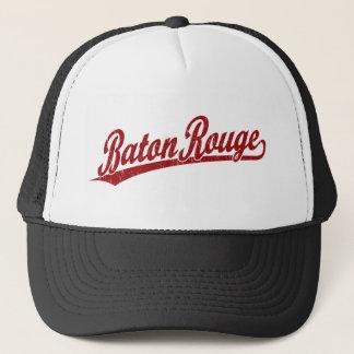 Baton Rouge script logo in red Trucker Hat