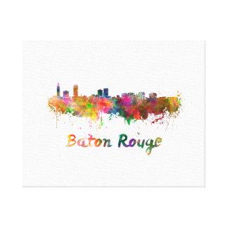 Baton Rouge skyline in watercolor copy Canvas Print