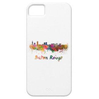 Baton Rouge skyline in watercolor copy iPhone SE/5/5s Case