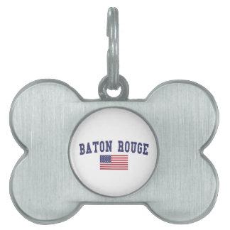 Baton Rouge US Flag Pet Tag