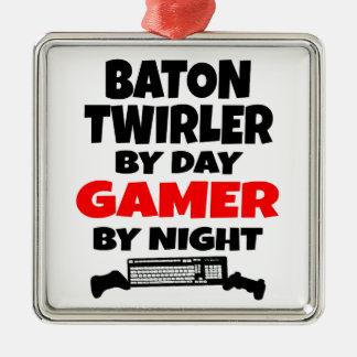 Baton Twirler by Day Gamer by Night Ornaments
