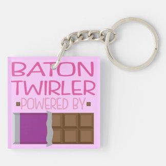 Baton Twirler Chocolate Gift for Woman Keychain